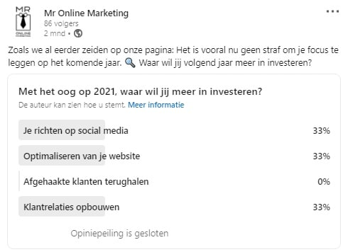 Mr Online Marketing social media content ideeën