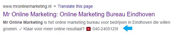 Meta description mronlinemarketing.nl Mr Online Marketing